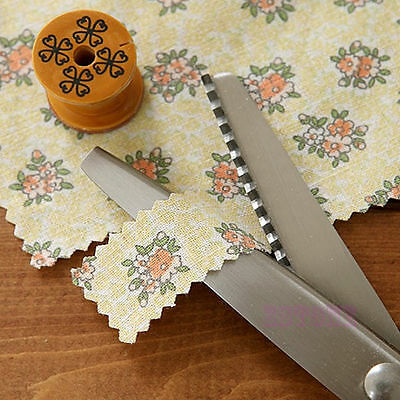Pro Zig Zag Pinking Sewing Cut Stainless Dressmaking Tailor Shears Scissors