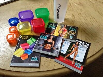 New Sealed. 21 Day Fix EXTREME Shaker Cup+7 Containers, Eating Plan & Bonus Dvd.