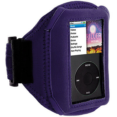 Purple Sport Gym Running Armband Case Cover for iPod Classic 80GB 16GB