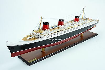 "SS Normandie Ocean Liner Ship Model 39"" Handcrafted Ship Model NEW"
