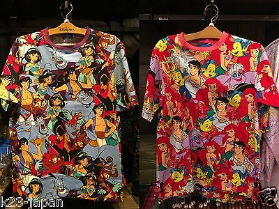 Tokyo Disney Resort T-Shirts Aladdin The Little Mermaid Ariel S-LL Size Unisex