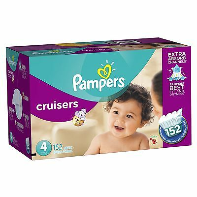 Pampers Cruisers Diapers Size-4 Economy Pack Plus 152-Count- Packaging May Vary