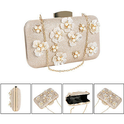 Pearl Beaded Evening Bag Handbag Wedding Bridal Cocktail Party Prom Clutch Purse