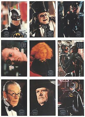 Batman Returns - Trading Card Set (100) - 1992 TOPPS Stadium Club - NM