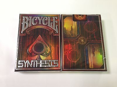 1 deck Bicycle Red Synthesis Cyberpunk Playing Cards by Albino Dragon  USPCC
