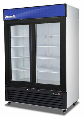 Migali C-49RS Commercial Double Slide Glass Door Merchandiser Refrigerator