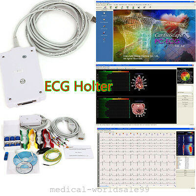 PC-ECG Holter 12-lead Recording System Software electrocardio Analysis waveform