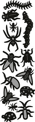 Marianne Design Craftables Cut Emboss Die Stencil Punch Die Bugs Spiders Cr1383