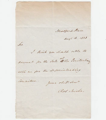 SIR ROBERT SMIRKE, Architect, Autograph Letter Signed 1838
