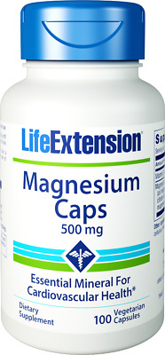 Life Extension, Magnesium Caps, 500mg, 100 V-Kaps.