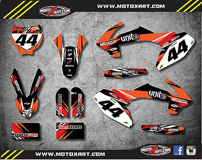 KTM  65 - 2016 2017 Full custom graphics Kit DIGGER Style decals / stickers
