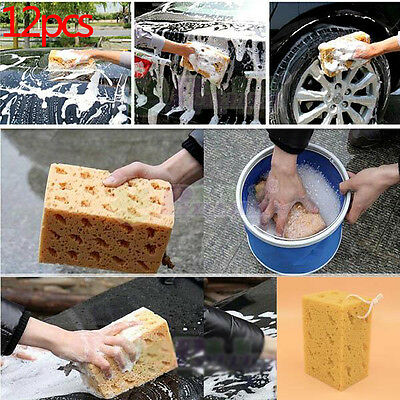 12Pcs Useful Jumbo Honeycomb Sponge Coral Cleaning Car Macroporous Tool