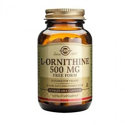 Solgar L-Ornithine 500 mg Vegetable Capsules 50