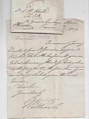 KING WILLIAM IV Autograph Letter Signed, with wrapper and seal, 1829