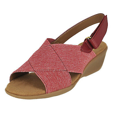 Aerosoles Badlands Red Womens Wedges Size 9.5M