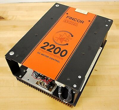 Fincor Model 2200 Regenerative DC Motor Control, 1/6 HP 115-130 VAC - USED