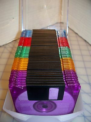 38 IBM Memorex 2SHD Formatted 1.44 MB Cool Discs With Storage Box Assorted Color
