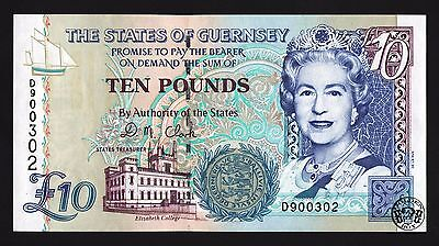 States of Guernsey: 10 pounds 1996 (P-57d), QEII. UNC