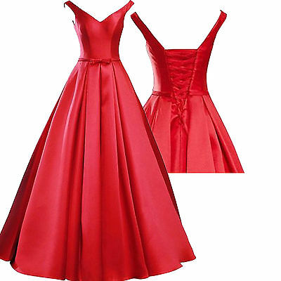Formal Long Wedding Ball Gown Party Prom Dresses Bridesmaid Dress Evening 6-16