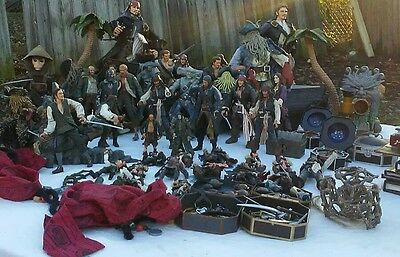 Ultimate Pirates of the Caribbean Action Figure Lot Plus More Johnny Depp