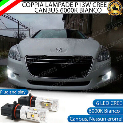 Coppia Lampade P13W Led Drl Luci Diurne Peugeot 508 Canbus 6000K No Error