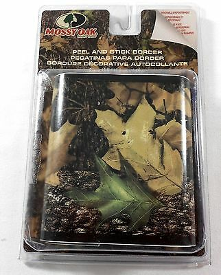 "Mossy Oak Camo Wallpaper Border Peel and Stick 15'X5"" Camouflage Leaves Hunting"