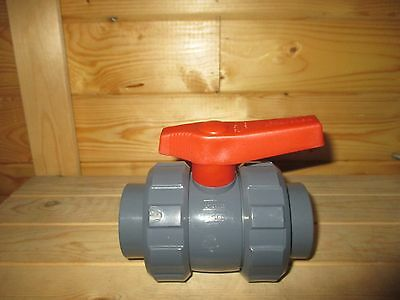 Double Union Ball Valve Orange handle 1.5 inch (Koi fish pond filter)