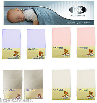 Super Soft Cotton Glove Fitted Chicco Next to Me Crib Sheets  Pick Any 2 Colours