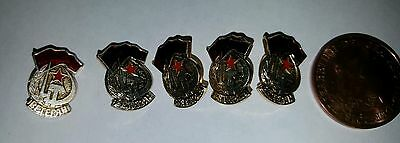 CCCP USSR SOVIET RUSSIAN COMMUNIST PROPAGANDA PIN BADGE  x5