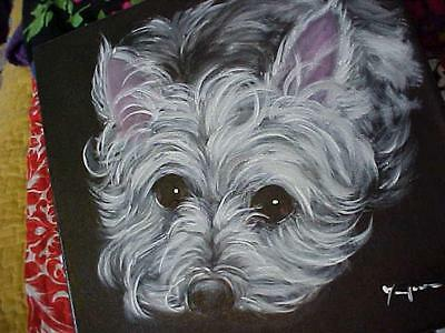 Two Original Paintings  Portraits Of The  West Highland Terrier Westie