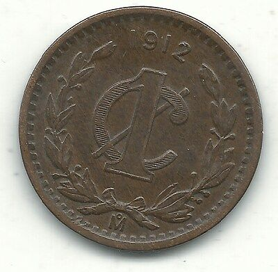Mexico 1 Cent Coin 1912 Coins