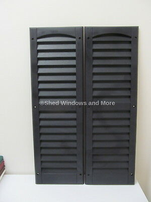 "9"" x 27"" Shutters Black One Pair Shed Playhouse Storage Building Barn Garage"
