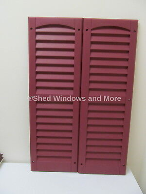 "9"" x 27"" Shutters Maroon One Pair Shed Playhouse Storae Building Barn Garage"