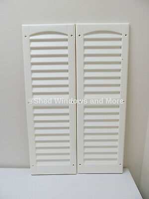 "9"" x 27"" Shutters White One Pair Shed Playhouse Storage Building Barn Garage"