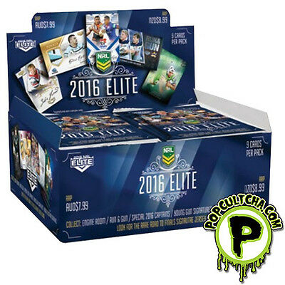 NRL 2016 RUGBY LEAGUE - Elite Trading Cards Factory Sealed Box (24ct) #NEW