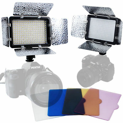 2PCS Video Light 216 LED Lamp Barndoor for Canon Nikon Camera DV Camcorder