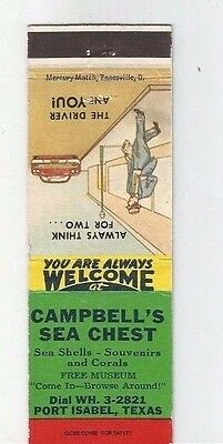 MATCHBOOK COVER Campbell's Sea Chest Port Isabel Texas