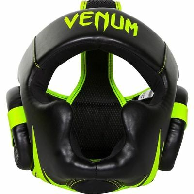 Venum Challenger 2.0 Headgear Black Neo Yellow Mma Boxing Head Guard Gear