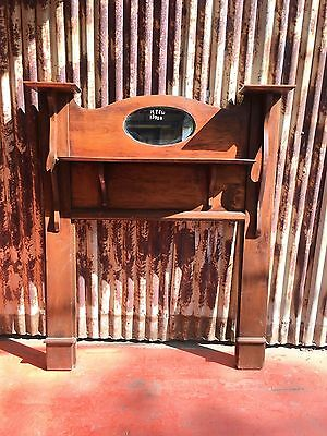 Timber Mantle Piece With Mirror 1285w X 1570h
