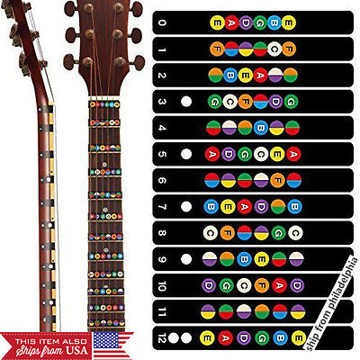 Neewer Guitar Fretboard Note Decals Fingerboard Frets Map Sticker
