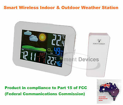 Smart Wireless Colour Indoor & Outdoor Weather Station with Forecast (US Brand)