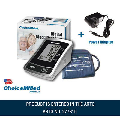 Digital Blood Pressure Monitor Automatic Upper Arm with Carry Bag +Power Adapter