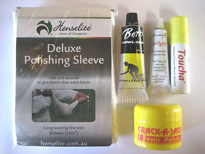 All New: Lawn Bowls Accessories Gift Pack. GREAT VALUE NOW 20% OFF