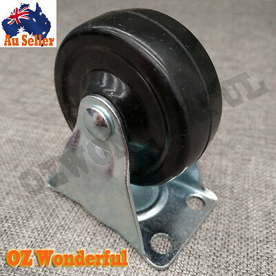 "2.5"" 64mm Castor Wheels FIXED Castors Heavy Duty Caster Casters New Pick.Up.Now"