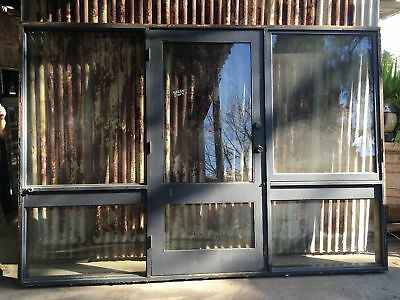 Solid Timber Door With Awning Window And Fixed Panels Of Glass 3025w X 2100h