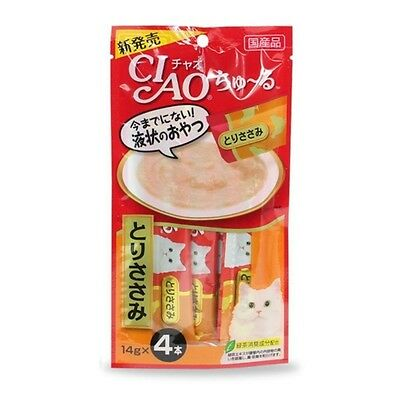 CIAO Churu Cat Lick Snacks Flavor Chicken Breast Fillet 4pcs Cat Food