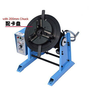50KG Duty Welding Positioner Turntable Timing with 200mm Chuck US CA 110V Y