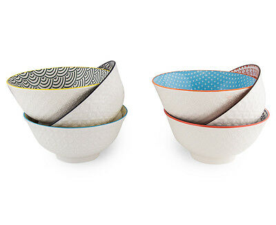 Cooper & Co. New Urban Textured 6 Pack 15.5cm Bowls Assorted Colour Dinning Soup