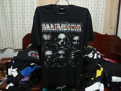 RAMMSTEIN t shirt Vintage Industrial Heavy Metal Music Tour concert rare Size XL