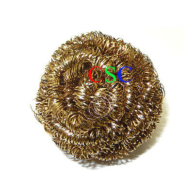 5 PCS New Soldering Solder Iron Tip Cleaner Brass Cleaning Wire Sponge Ball